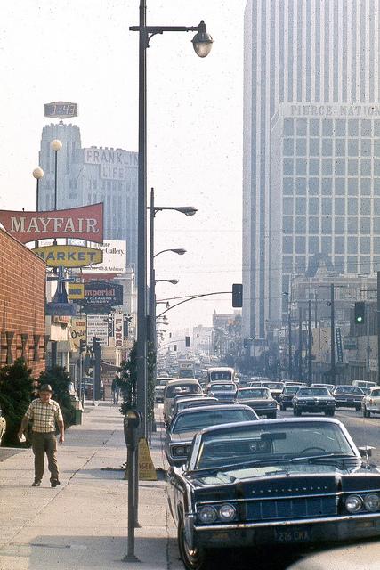Looking south toward Wilshire Boulevard, February 24, 1972